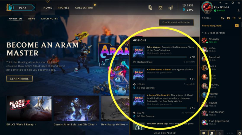 ARAM-arama Missions