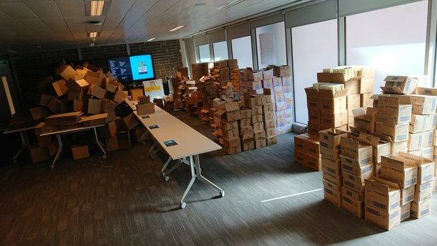 Riot Games Dublin Global Service Day Boxes