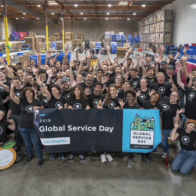 Rioters participate in Riot's annual global service day